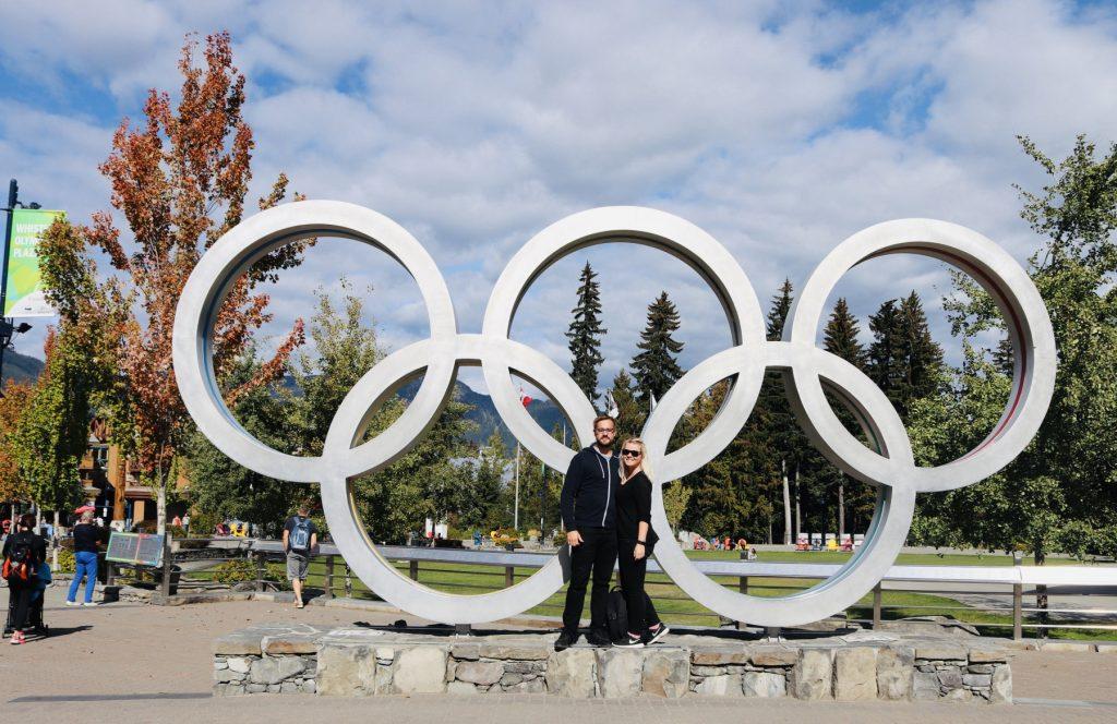 Olympische Ringe in Whistler