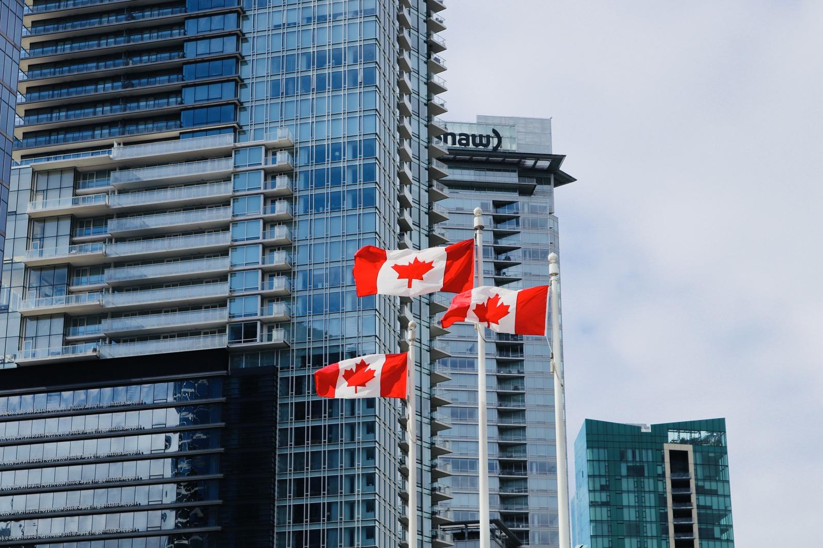 Kanada Flaggen in Vancouver
