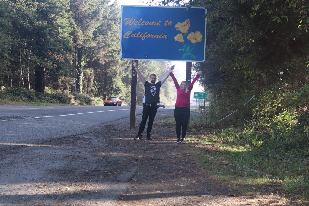 Schild Welcome in California
