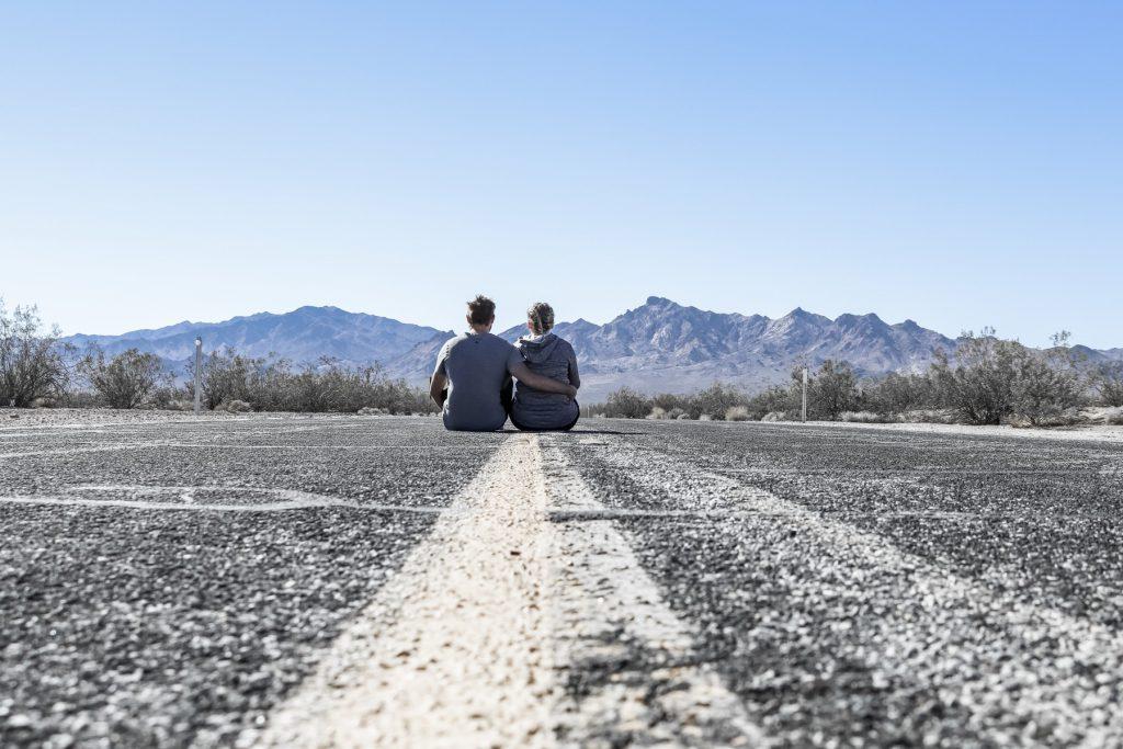 Straße im Death Valley